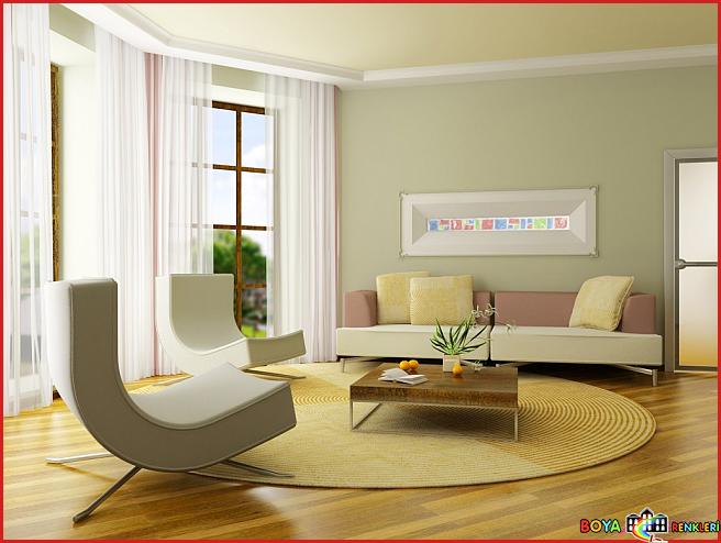 En Güzel Salon Duvar Renkleri ile Uygulama Örnekleri