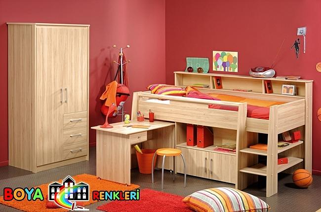 Genç Odası İçin Değişik Duvar Renkleri
