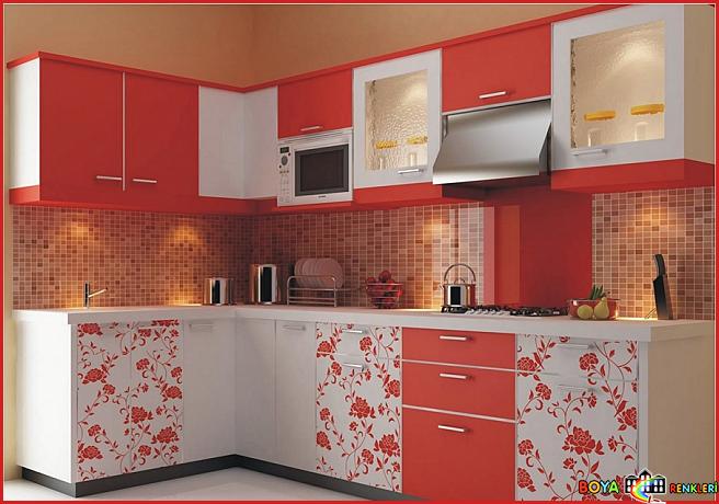 Mutfak Dekorasyonu ve Desenli Mutfak Dolabı Modelleri