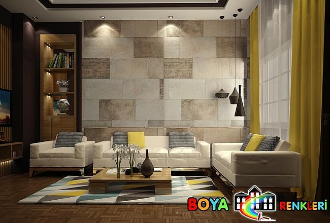 Salon Taş Duvar Panel Örnekleri