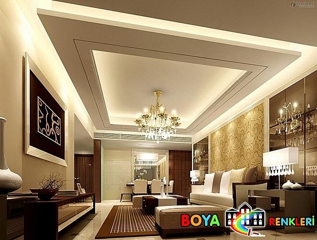 Salonlar İçin En Güzel Asma Tavan Modelleri